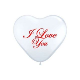 "Baloane latex in forma de inima ""I Love You"" - 25 cm, Radar"