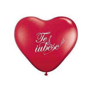"Baloane latex in forma de inima ""Te iubesc"" - 25 cm, Radar"