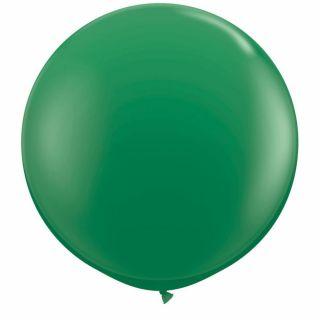 Baloane latex Jumbo 3 ft Green, Qualatex 41997, 1 buc
