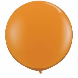 Baloane latex Jumbo 3 ft Mandarin Orange, Qualatex 43263, 1 buc