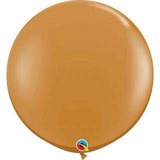 Baloane latex Jumbo 3 ft Mocha Brown, Qualatex 44564, set 1 buc