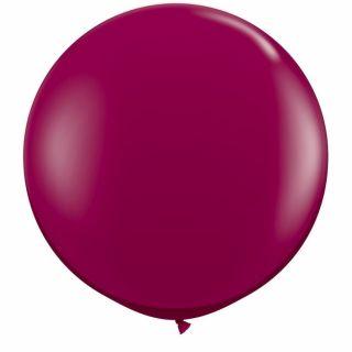 Baloane latex Jumbo 3 ft Sparkling Burgundy, Qualatex 43367, 1 buc