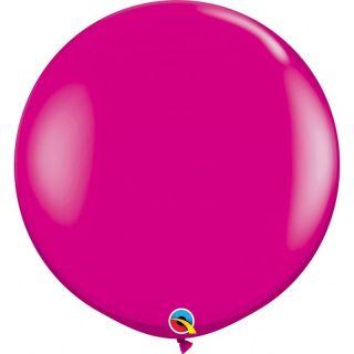 Baloane latex Jumbo 3 ft Wild Berry, Qualatex 25587, set 1 buc