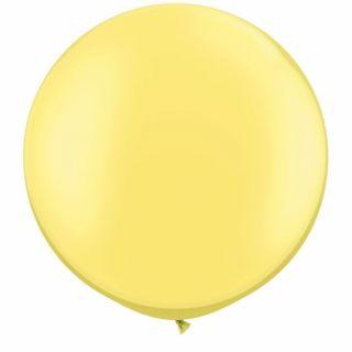 "Baloane latex Jumbo 30"" Pearl Lemon Chiffon, Qualatex 38485, 1 buc"