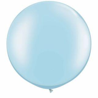 "Baloane latex Jumbo 30"" Pearl Light Blue, Qualatex 39882, 1 buc"