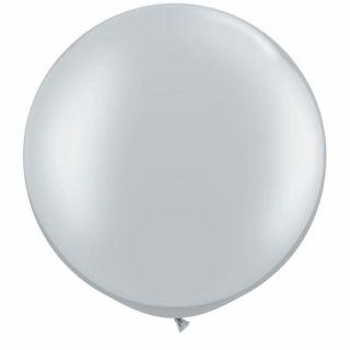 "Baloane latex Jumbo 30"" Silver, Qualatex 38402,1 buc"