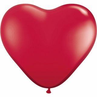 Baloane latex Jumbo Inima 3 ft Ruby Red, Qualatex 44487, 1 buc