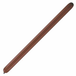 "Baloane Latex Modelaj Chocolate Brown, 2"" x 60"", Qualatex 260 68780, set 100 buc"