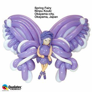 """Baloane Latex Modelaj Spring Lilac, 1"""" x 60"""", Qualatex 160 62598, set 100 buc"""