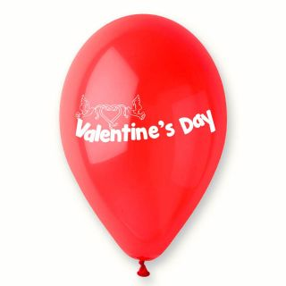 "Baloane latex rosii inscriptionate ""Valentine's Day"", Radar GI.LOVE.RED.T1"
