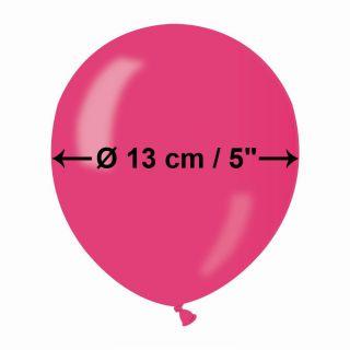 Baloane latex sidefate - 13cm, Fucsia 64, Gemar