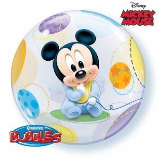 "Balon Bubble 22""/56cm Mickey Mouse Baby, Qualatex"