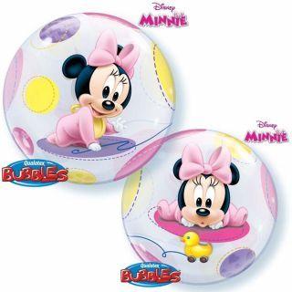 """Balon Bubble 22""""/56cm Minnie Mouse Baby, Qualatex"""