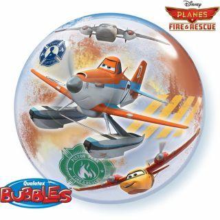 """Balon Bubble 22""""/56cm Planes Fire & Rescue, Qualatex"""