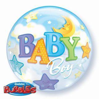 "Balon Bubble 22""/56 cm Baby Boy - Qualatex"