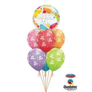 """Balon Bubble 22""""/56 cm Frozen Treats, Qualatex"""