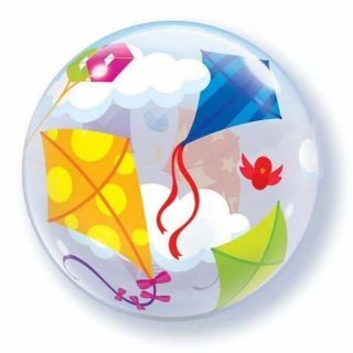 "Balon Bubble 22""/56 cm inscriptionat Zmeu, Qualatex"