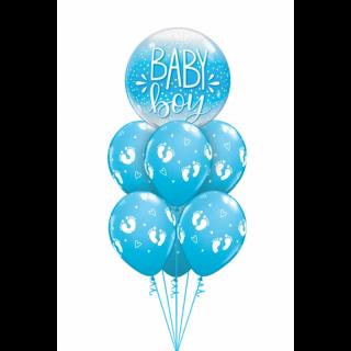 Balon Bubble Baby Boy 22''/ 56 cm, Qualatex