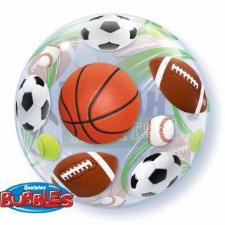 "Balon Bubble 22""/56cm Qualatex, Birthday Sport Balls"