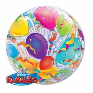 "Balon Bubble 22""/56cm Qualatex, Birthday Surprise"