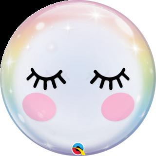 Balon Bubble Eyelashes 22''/ 56 cm, Qualatex