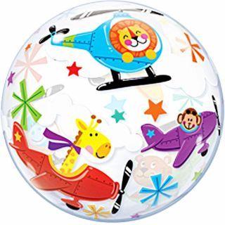 "Balon Bubble Flying Circus - 22""/56cm, Qualatex"