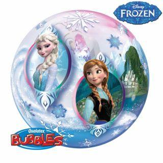 "Balon Bubble 22""/56cm Qualatex, Frozen - Anna, Elsa & Olaf"