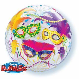 """Balon Bubble 22""""/56cm Qualatex, Masquerade"""