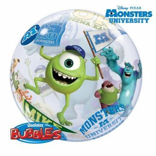 """Balon Bubble 22""""/56cm Qualatex, Monsters University"""
