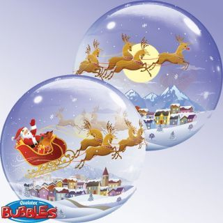 Balon Bubble Mos Craciun, Q 26979