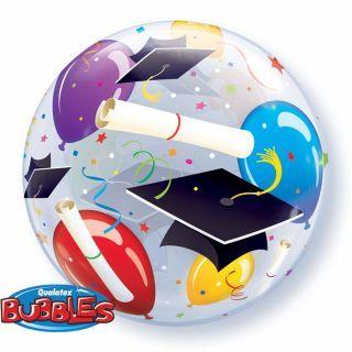 "Balon Bubble 22""/56cm Qualatex, pentru petrecere absolvire"