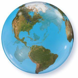 "Balon Bubble 22""/56cm Qualatex, Planeta Terra"