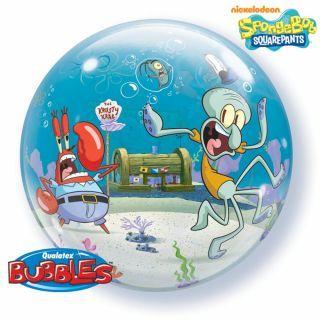 """Balon Bubble 22""""/56cm Qualatex, SpongeBob & Friends"""