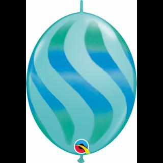 Balon Cony Caribbean Blue 12 inch (30 cm), Qualatex 28108