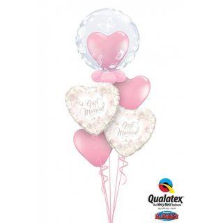 Balon Deco Bubble Fluturi si Trandafiri