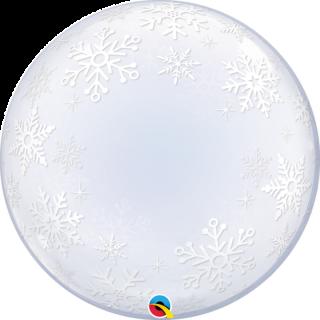 Balon Deco Bubble Frosty Snowflakes, Q 52005