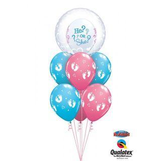 """Balon Deco Bubble, Inimi - 24""""/61 cm Qualatex"""
