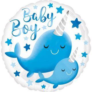 Balon Folie 45 cm Balena - Baby Boy, Radar