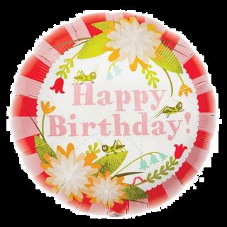 Balon Folie 45 cm Floral Birthday, Northstar Balloons