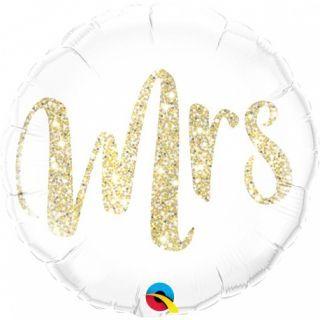 Balon Folie 45 cm Glitter - Mrs, Qualatex