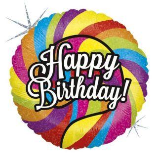 Balon Folie 45 cm Happy Birthday Acadea, Holografic, Radar