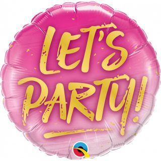 Balon Folie 45 cm Let's Party!, Qualatex