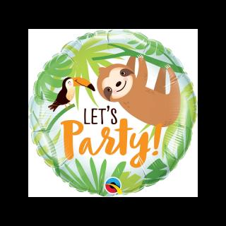 Balon Folie 45 cm Let's Party Toucan & Sloth, Qualatex