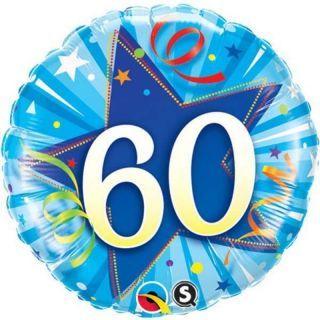 Balon Folie 45 cm Numarul 60 - Albastru, Qualatex