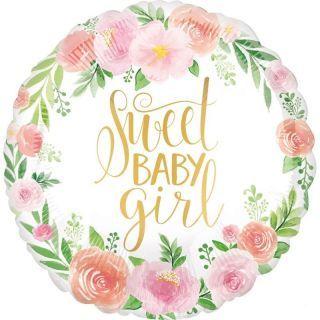 Balon Folie 45 cm Sweet Baby Girl