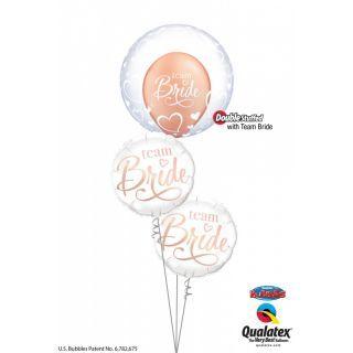 Balon Folie 45 cm Team Bride, Qualatex