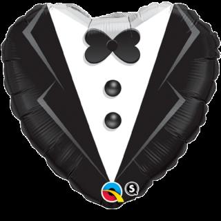 Balon Folie 45 cm Wedding Tuxedo, Qualatex