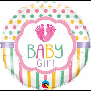 Balon folie 45cm Baby Girl, Qualatex