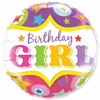 Balon folie 45cm Birthday Girl, Qualatex