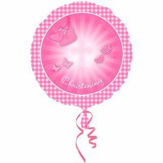 Balon folie 45cm Christening Booties Pink, Amscan